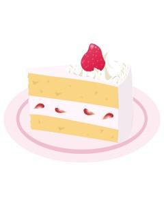 高カロリーのケーキ