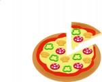 高カロリーのピザ