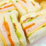 高カロリーのサンドイッチ