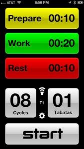 タバタ式トレーニング用アプリ